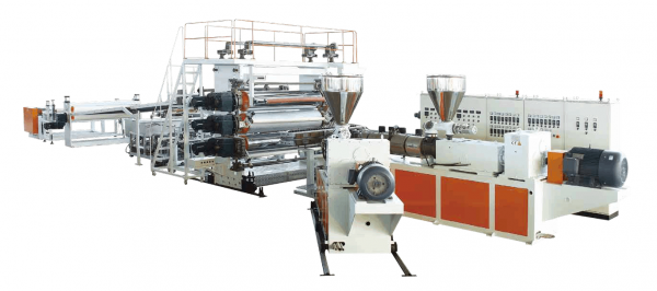 PP and Wood Powder、Bamboo Powder and Fiber Composite Sheet Extrusion Line