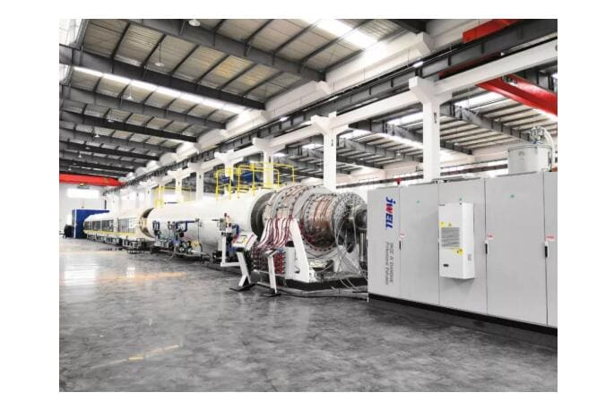 chinaplas2019 excellent equipment8211 large thickness hdpe pipe extrusion line 3