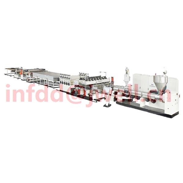PP wood powder fiber composite plate extrusion line - China