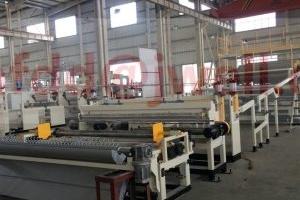 PP wood powder fiber composite plate extrusion line