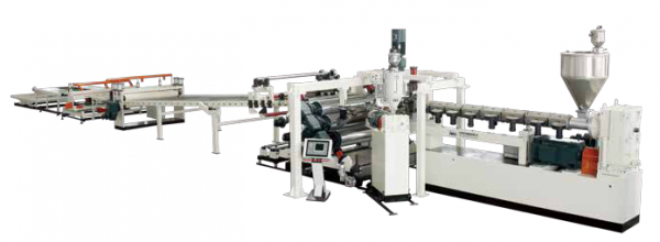 PC/PMMA/GPPS/ABS Plastic Sheet Plate Extrusion Line