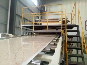 PVC rigid sheet extrusion line detail