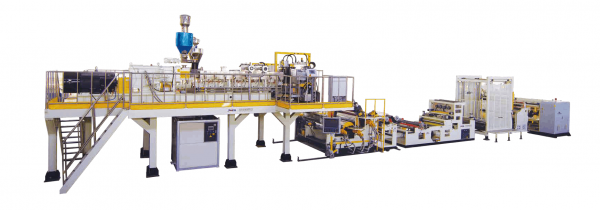 Twin Screw Dyer free Vented PET Sheet Extrusion Line