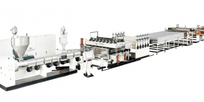 PC hollow sheet, U-shaped、U locked sheet extrusion line
