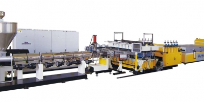 PP/PE Plastic Hollow Cross Section Plate Extrusion Line
