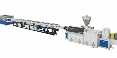 PVC Dual pipe extrusion machine