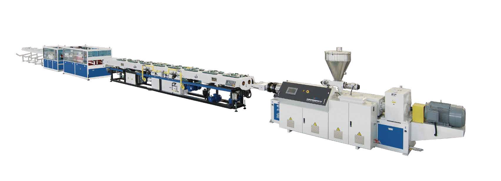 pvc dual pipe extrusion machine 6