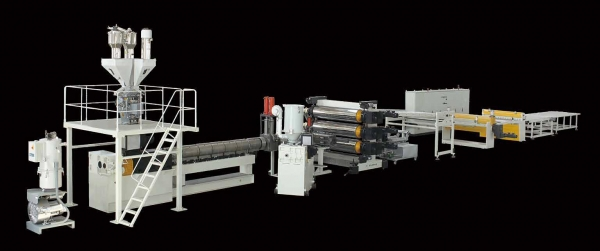 PVC Free Foaming/UV imitation marble board Extrusion Line