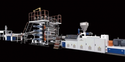 SPC Calcium-plastic Environmental Floor Extrusion Line