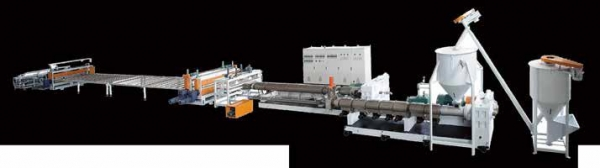 XPS Heat Insulation Foaming Boad Extrusion Line (CO2 Foaming Technology)