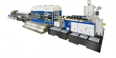 High Speed Single Screw Extruder PE PP Double Wall Corrugated Pipe Production Line
