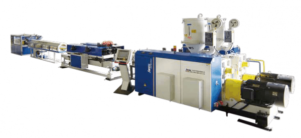 PE PP PVC Double wall corrugated pipe extrusion line