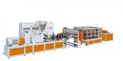 PVC Single Multi Layer Heat Insulation Corrugated Board Step Roofing Extrusion Line