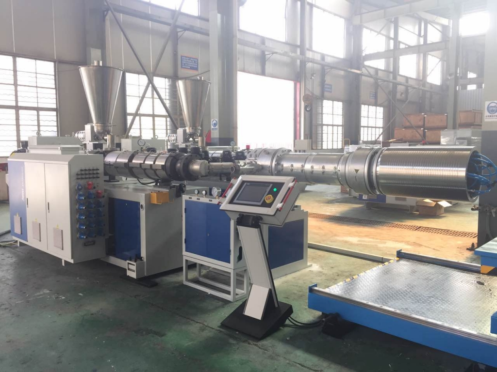 double wall corrugated pipe extrusion machine