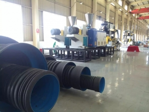 pe pp pvc double wall corrugated pipe extrusion machine