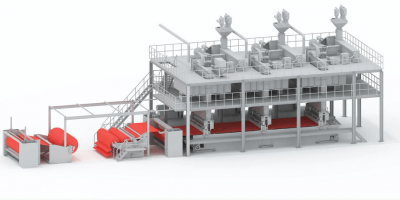 spunbond non woven equipment production line