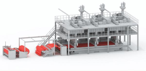 spunbond non woven equipment production line