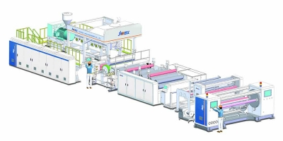 pe breathable film production line design diagram