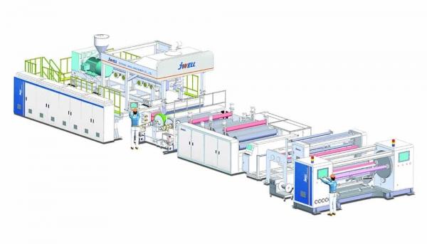 pe breathable film production line design diagram