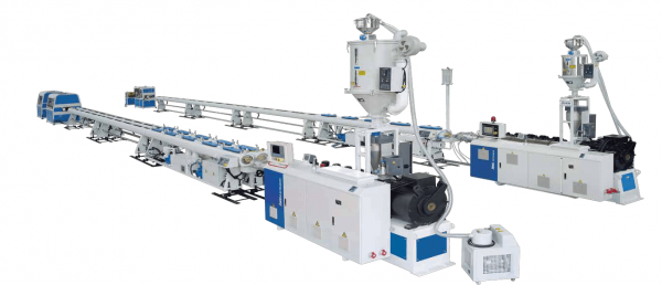 Small caliber PE PPR PE RT PA Single pipe Dual pipe High speed Extrusion Production Line